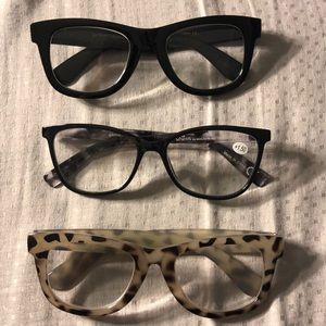 8af6d82e47d4 BETSEY JOHNSON Sunglasses.  10  0. 3-Pack 1.50 Readers